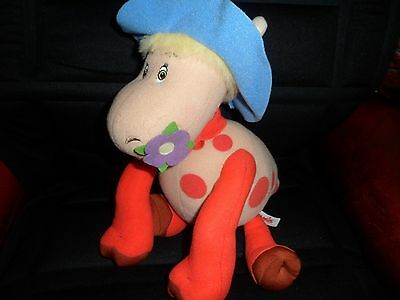 """1980s10"""" Ermitrude talking cow character soft toy from Magic roundabout TVseries"""