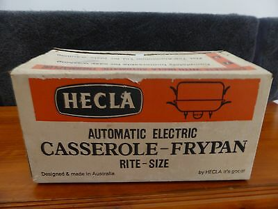 Vintage Retro Hecla Automatic Electric Frypan (New in Box)