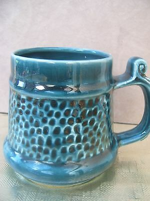 Prinknash Pottery Blue / Grey Half Pint Mug. Caldey. FREE UK POSTAGE