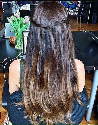 Luxy Real Hair Extension Ombré Chestnut Brown