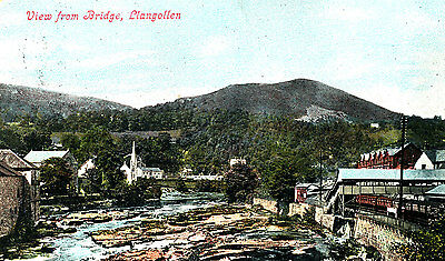 BRECONSHIRe - 1917 Postcard of Crickhowell (Posted locally)