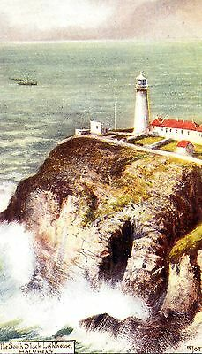 """ANGLESEY - Pre 1918 """"Jotter"""" Postcard of South Stack Lighthouse, Holyhead"""