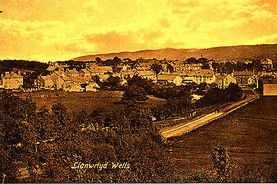 BRECONSHIRE- Postcard depicting Gereal View,, Llanwrtydd Wells (1920/30s ?)