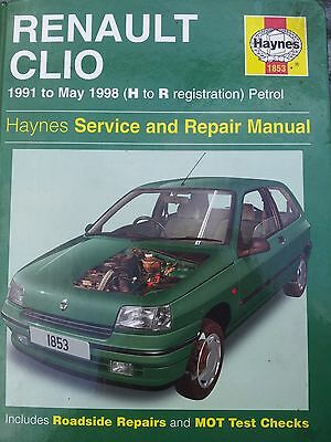 Haynes Renault Clio Workshop Manual Book Number 1853