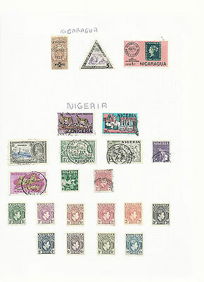Trade Price Stamps Nigeria Used And Mounted Mint On Page