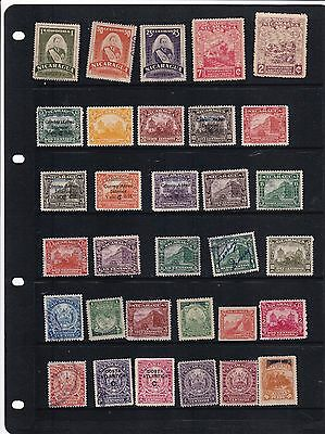 Nicaragua   Mounted Mint  And Used Stamps On Stock Sheet   R 1590