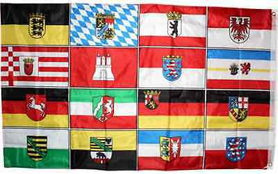 16 German States Flag 3x5 ft Double Sided Germany Bavaria Berlin Saxony etc