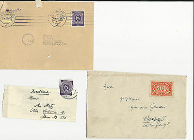 Trade Price Stamps Allied Occupation On Piece And Cover