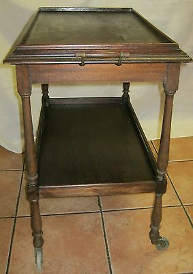 SERVING TROLLEY - TWO TIERED - WOODEN - CIRCA MID 1900's