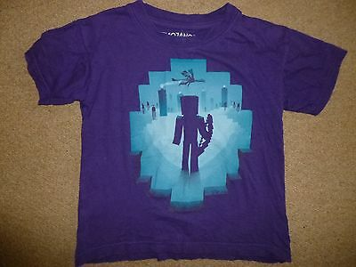Minecraft Purple T-shirt Official EYE OF ENDER Age 5-6