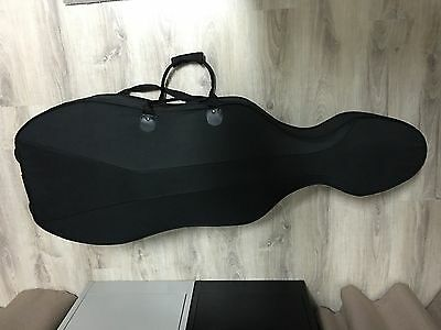 Lightweight Foam Cello Case for 4/4 (Full) Size Cello Black With Wheels