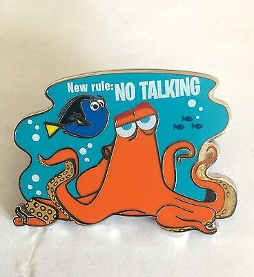 Disney Dlrp Finding Dory 'new Rule No Talking' Pin