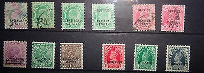 PATIALA collection of mint and used stamps 1893 - 1943