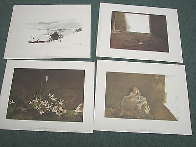 1963 Rare Four Seasons 12 Print Complete Set By Andrew Wyeth with Original Case