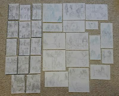 30 ORIGINAL A Game Of Thrones Sketches for Panels Comic Book Art Tommy Patterson