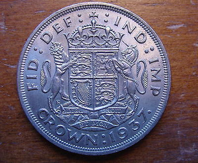 Better  British Silver Crown Coin King George Sixth Coronation 1937
