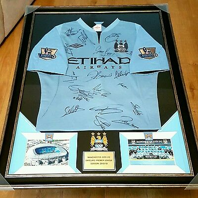 Manchester city signed football shirt - rare collectable item