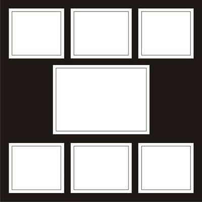 """Frame with 7 Spaces 12 x 12"""" Full Page Layout"""