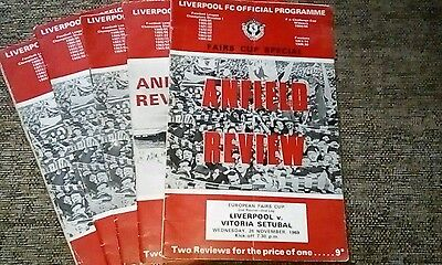 Vintage Liverpool F.C. Official Programmes