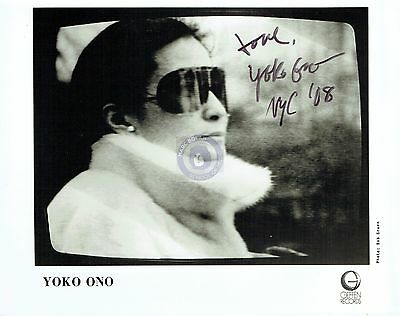 Yoko Ono Signed 8 X 10 fundraiser Light Of Love Charity Marc Bolan The Beatles