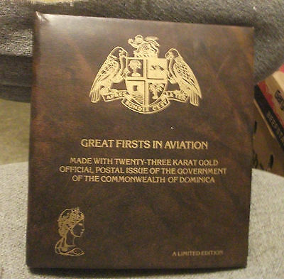 """23-KARAT GOLD Stamps,""""Great Firsts in Aviation""""Ltd.Edition,#d, 30 Stamps BEAUTY!"""