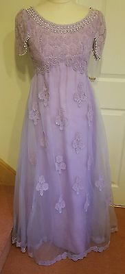 Ladies Beautiful Lilac Ethnic Style Dress Pantomime Stage Aladdin size 10