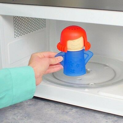 Cute Angry Mama Green Kitchen Food Steam Cleans Microwave Cleaner No Chemicals