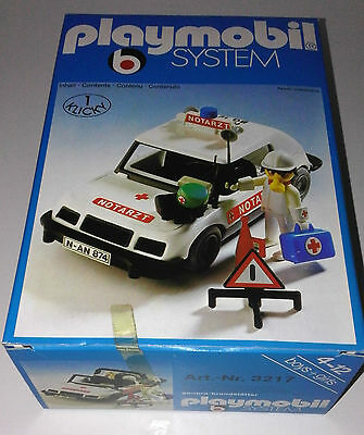 "Rare 1977 vintage Playmobil System 3217 ""Doctor's Car"" NEU NEW MIB MINT NEUF"
