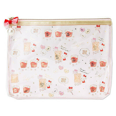 Hello Kitty PVC Clear Multi Case Pouch Happiness Girl ❤ Sanrio Japan