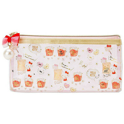Hello Kitty PVC Clear Multi Case Pouch S Happiness Girl ❤ Sanrio Japan