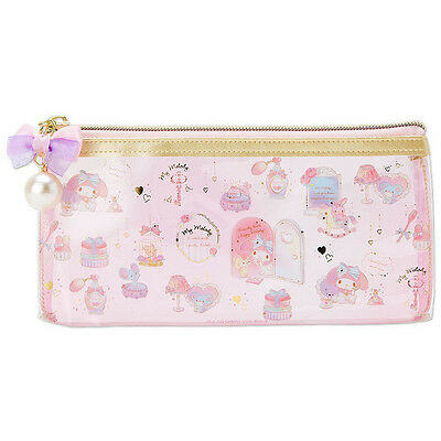 My Melody PVC Clear Multi Case Pouch S Happiness Girl ❤ Sanrio Japan