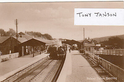 Real Photo BANCHORY nr ABERDEEN Railway Station INTERIOR VIEW Rare