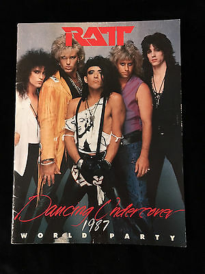 Ratt-Dancing Undercover World Party 1987-Concert Program Book