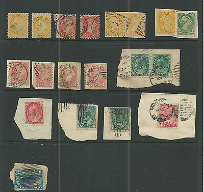 Canada  Early Stamps And On Piece On Stock Page , Early Material