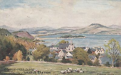Printed  Postcard. Railway Station. Furness Railway. GRANGE OVER SANDS.