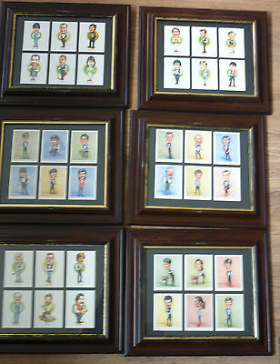 vintage Framed Embassy & Regal Snooker Celebrities cards x 6 frame (6 cards)