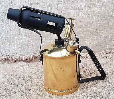 Old Brass Blow Lamp