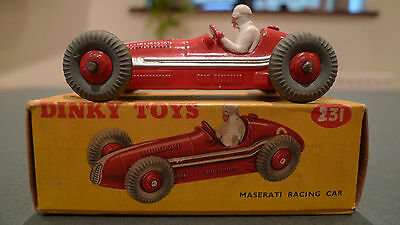 Vintage Dinky 231 Maserati Racing Car - Boxed in Excellent Condition