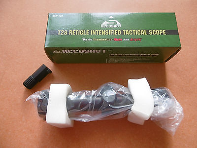 tactical scope SCP-T28 4x28  with led light   rifle scope