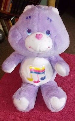 "VINTAGE KENNER 1980s 1987 CARE BEARS HARMONY TEDDY BEAR VGC 12"" SOFT PLUSH TOY"