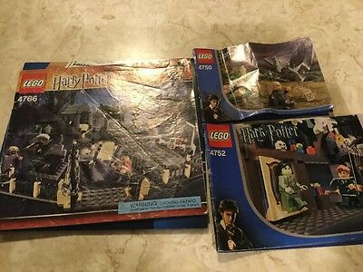 LEGO Harry Potter Instruction Manual Booklet Only For 4766, 4750 And 4752