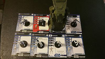 Star Wars Miniatures Imperial Hunter AT-ST Lot 2x Scout Trooper 5 Stormtroopers