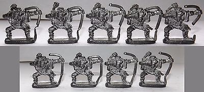 Vintage metal, pre-slotta, role-playing miniatures: 9 Grenadier Orc Archers
