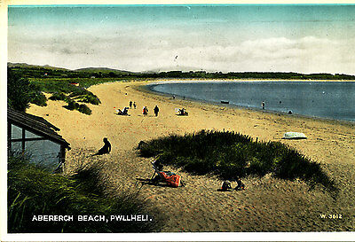 CAERNARVONSHIRE - Postcard of Abererch Beach,Pwllheli - 1950s