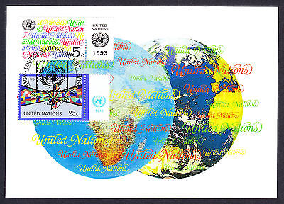 1993 United Nations Live Together In Peace Stamp on UN USA New York postcard PC