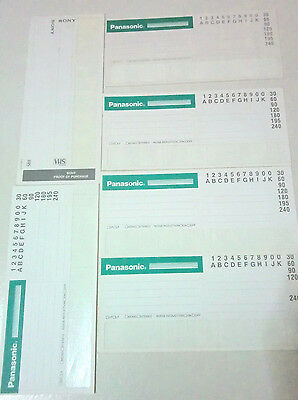 Vhs Betamax Sony Panasonic Labels Vintage Stickers, Original