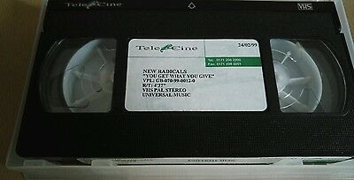 "New Radicals ""You Get What You Give"" RARE PROMO VHS TAPE"