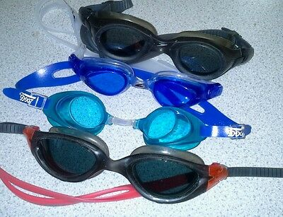 Swimming Goggles X 4 Pairs Used In Excellent Condition