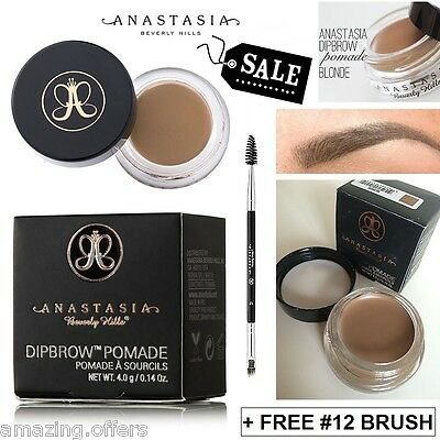 New Anastasia Beverly Hills Dip Brow Pomade Dipbrow Blonde + Free Duo Brush #12