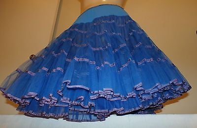 Vintage Malco Modes Blue Petticoat/slip--Waist 22 To 32""
